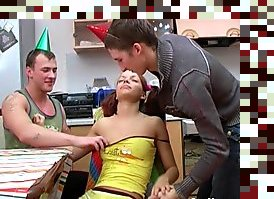 drunk russian threesome